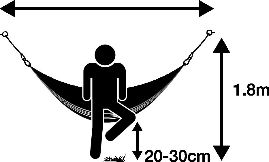 Installation how to hang. Hammock clipart lie in hammock