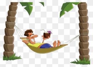 Hammock clipart lie in hammock. Lying on top of