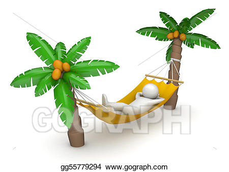 Drawings lifestyle collection lying. Hammock clipart lie in hammock