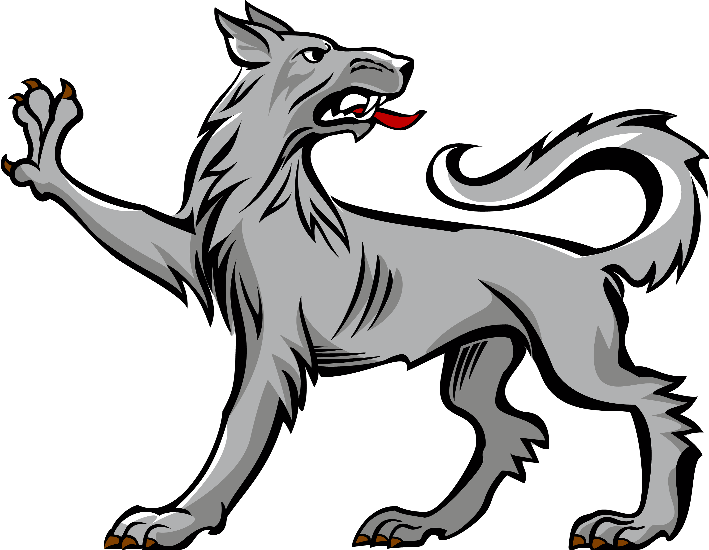 Wolf passant regardant saved. Wolves clipart boho