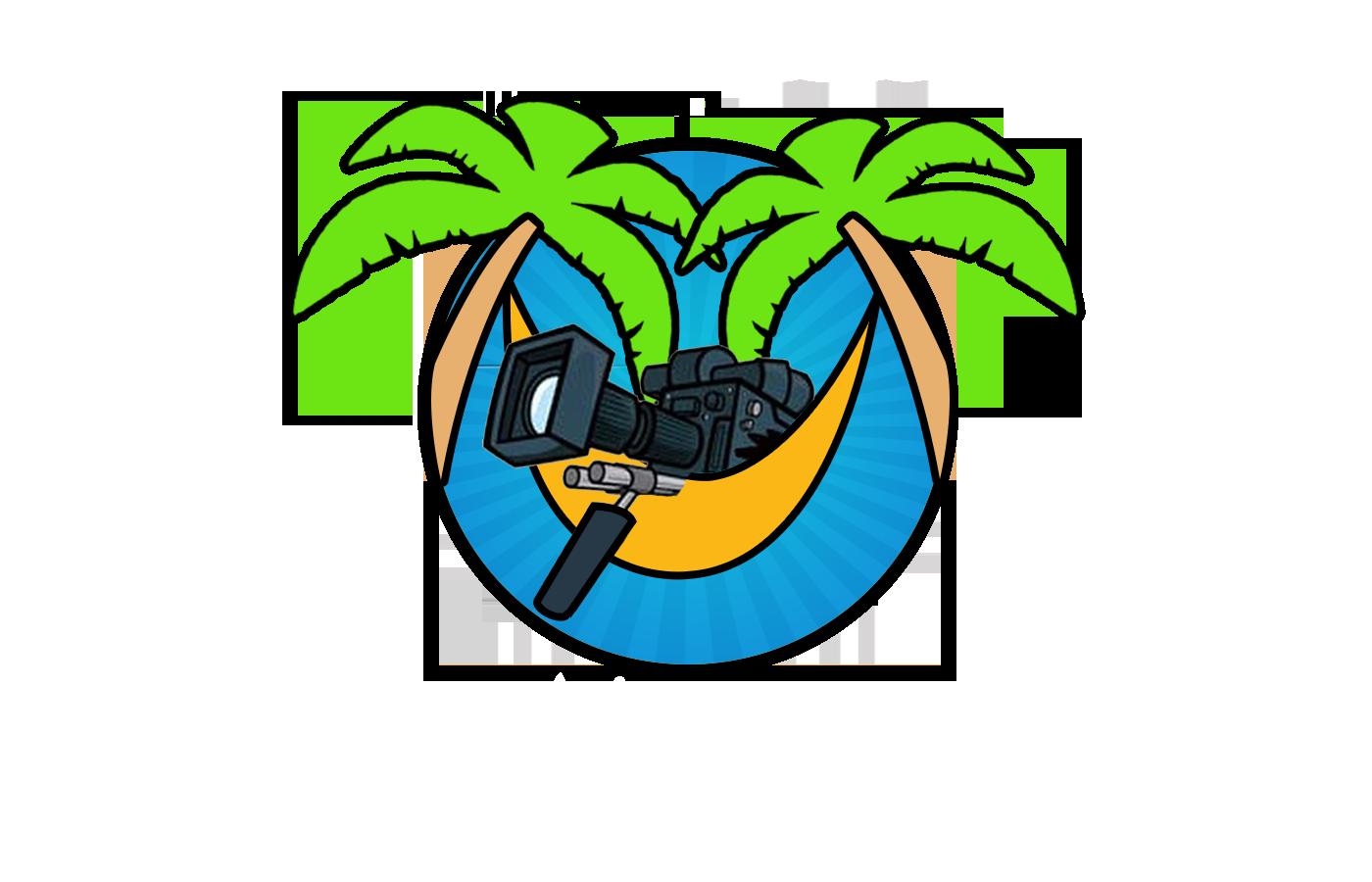 Palm clipart hammock. Films media logo