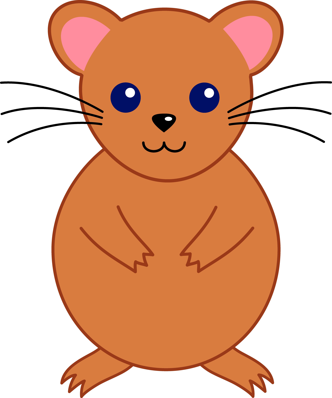 Cute hamster . Clipart rat artistic