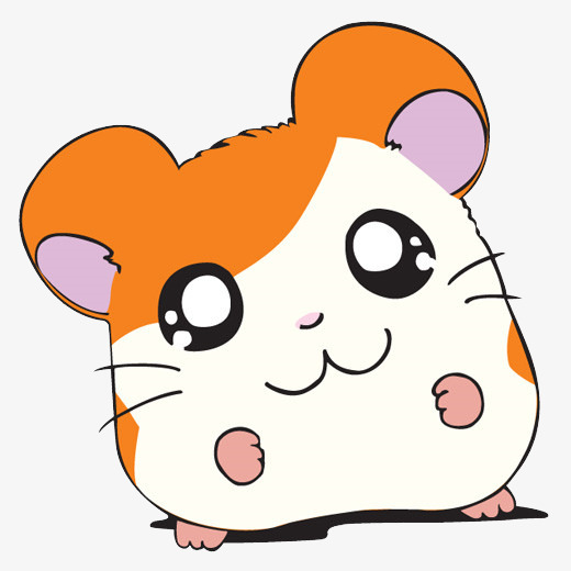 Star eyes cartoon hand. Hamster clipart