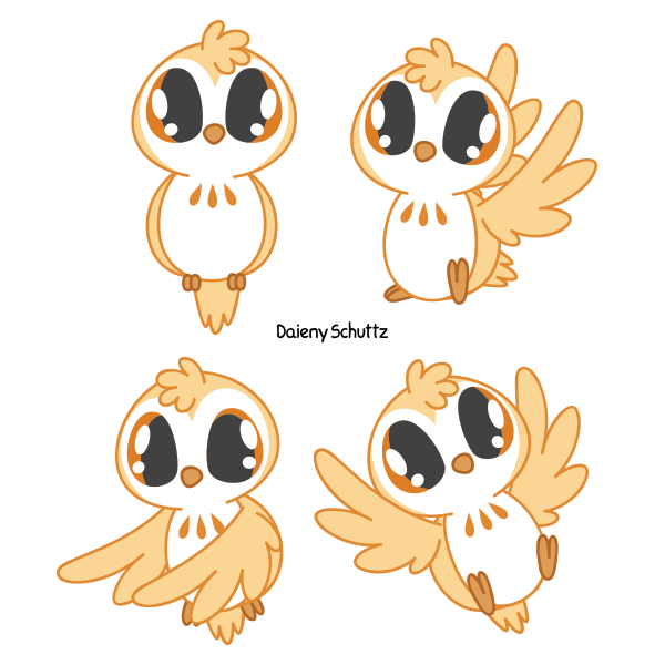 Owl by daieny on. Hamster clipart adorable