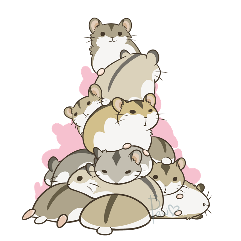 Ham tower by pawlove. Hamster clipart angry