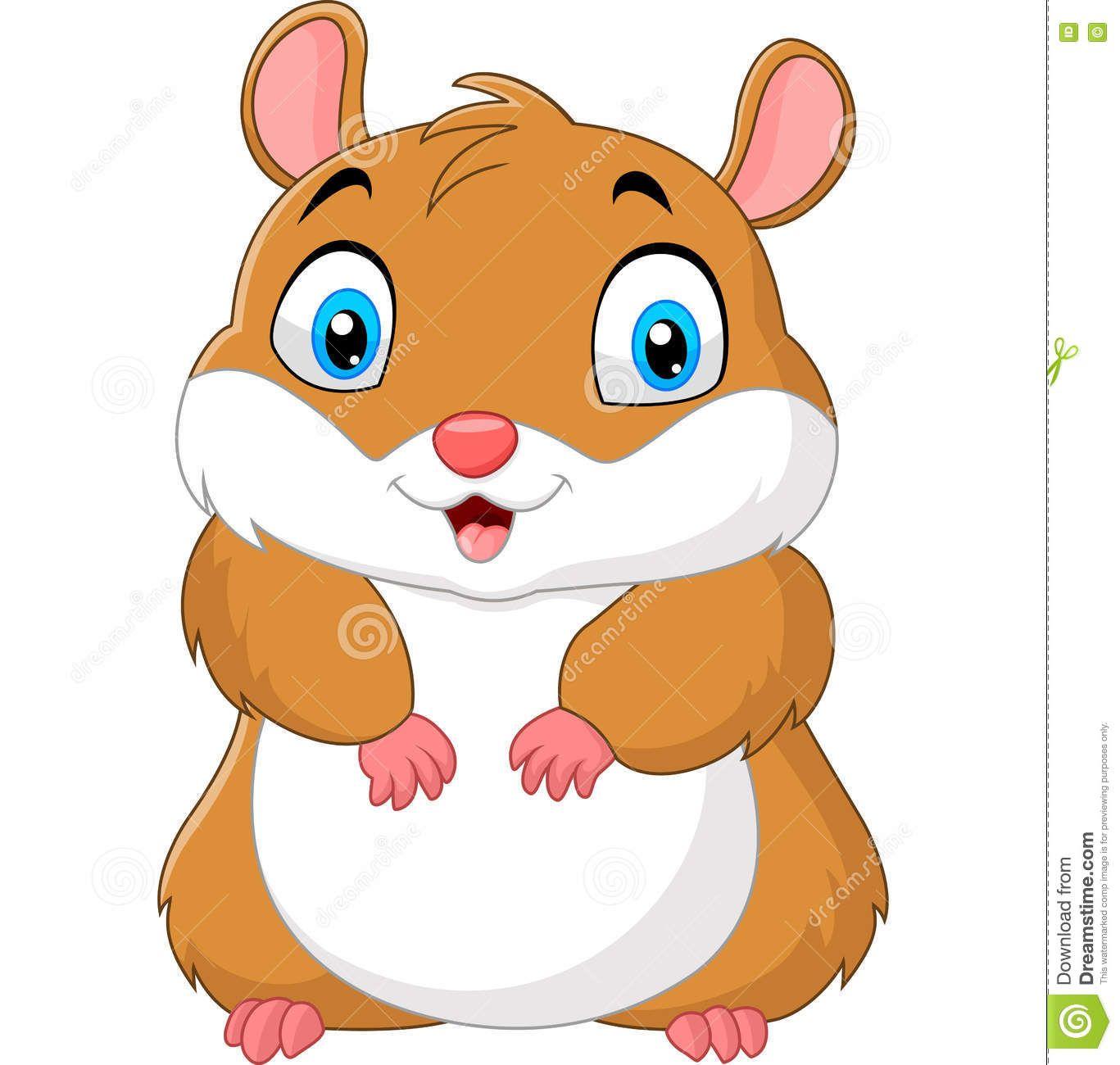 Hamster clipart baby hamster. Cute cartoon stock vector