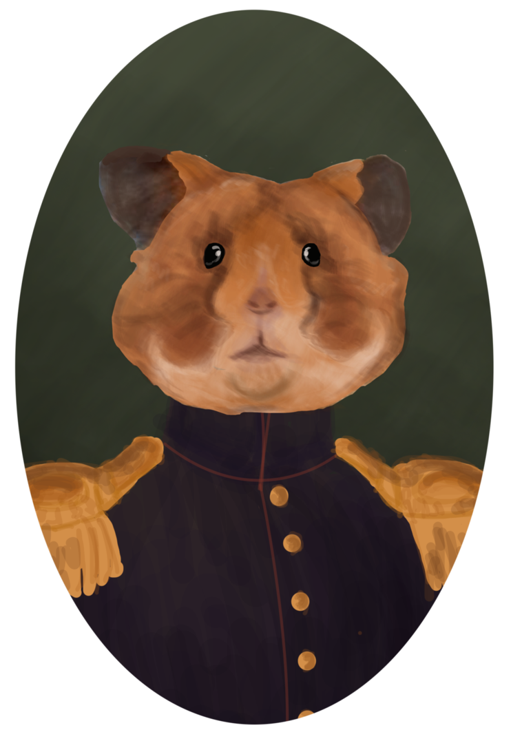 Portrait by bananafillet on. Hamster clipart brown