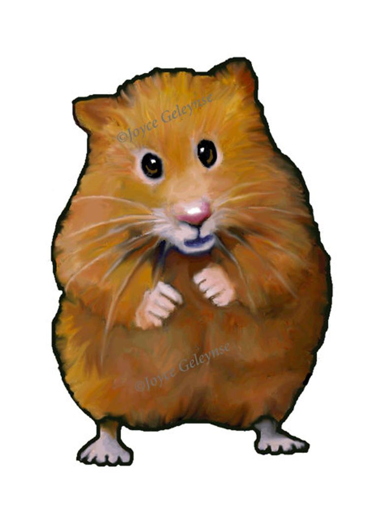 Clip art hand drawn. Hamster clipart brown mouse