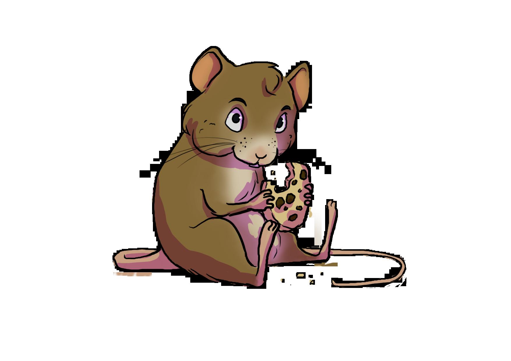 Tiny mini eveline verburg. Hamster clipart brown mouse