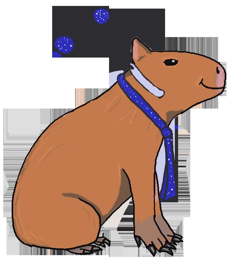 Plush toy madness caplin. Hamster clipart capybara