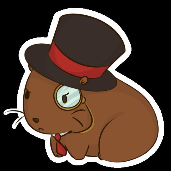 Hamster clipart capybara. Drawing fan art clip