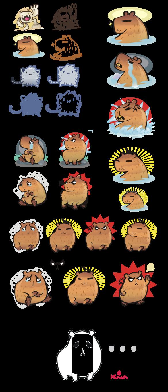 Character tests by kna. Hamster clipart capybara
