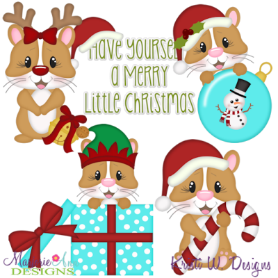 Hamster clipart christmas. Hammie svg cutting files