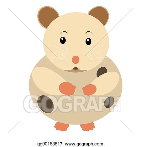 Hamster clipart clip art. Vector isolated drawing gg