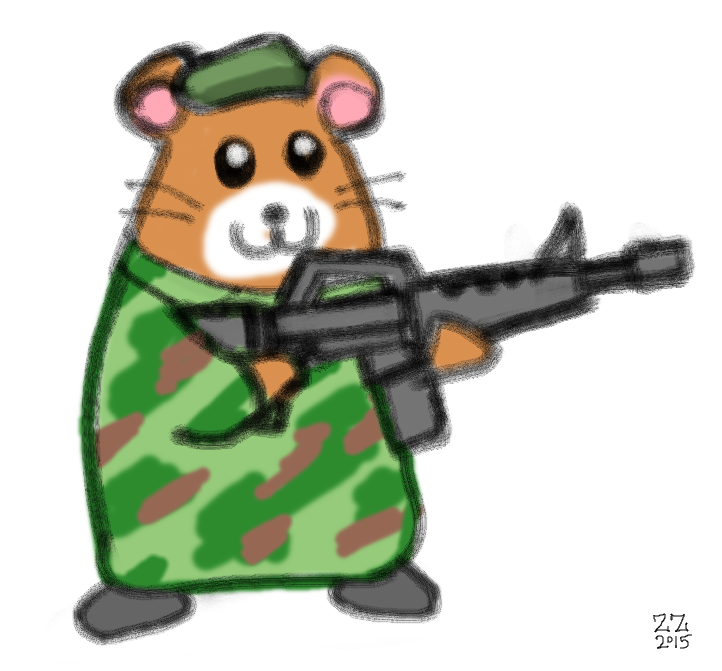 Draw a with beret. Hamster clipart drawn