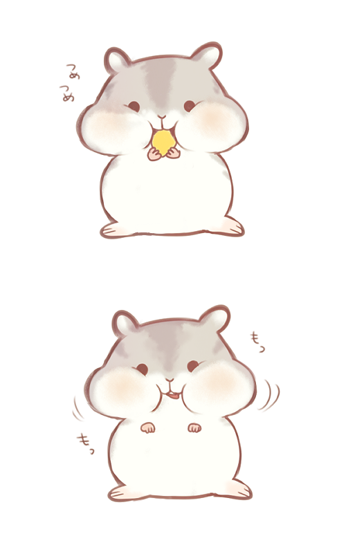 Hamsters charcter design in. Hamster clipart easy