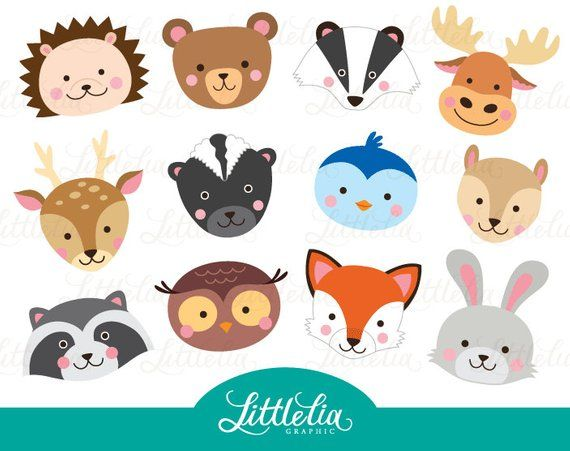 Hamster clipart forest animal. Woodland head forrest