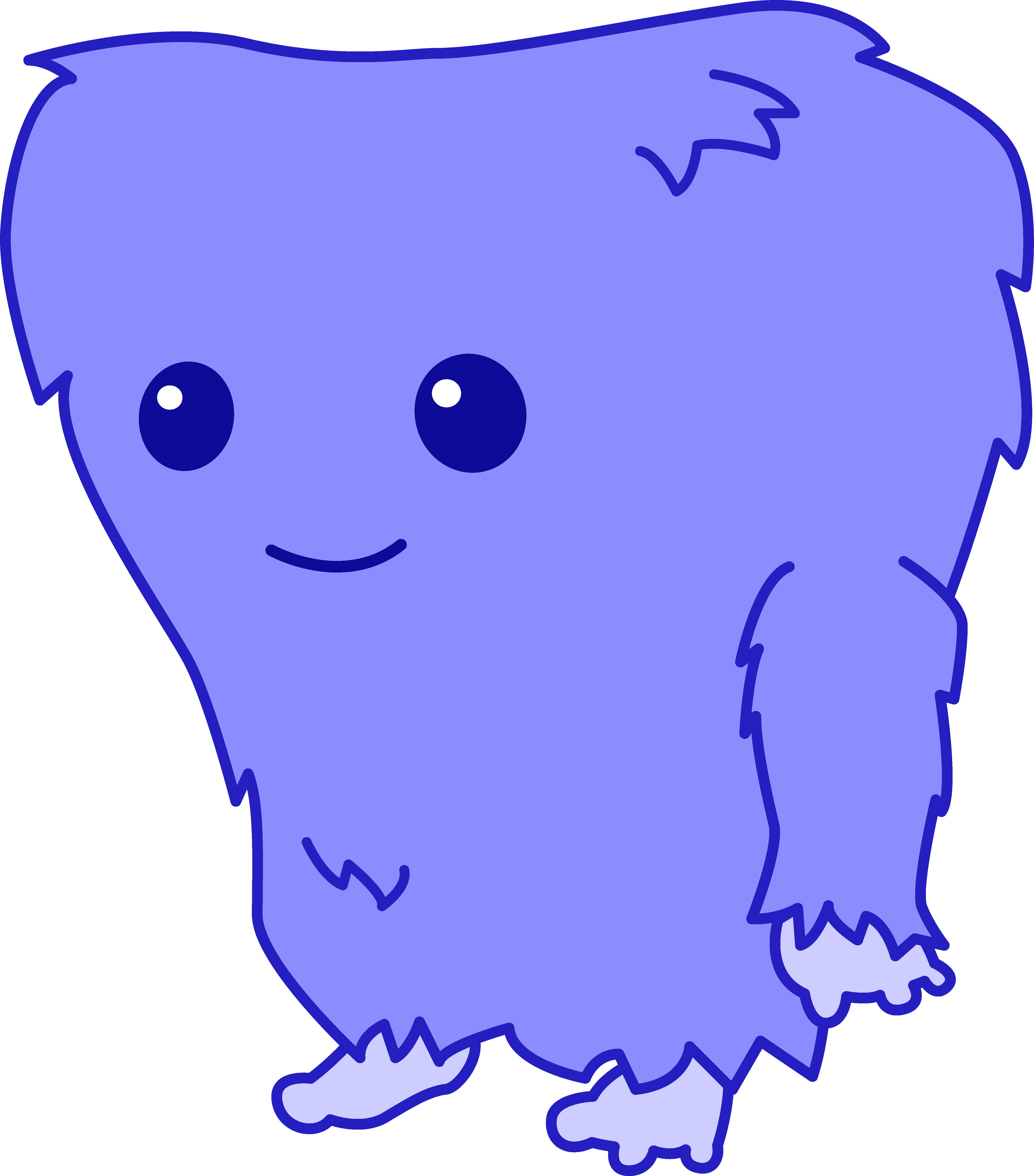 Monster clipart friendly monster.  collection of fuzzy
