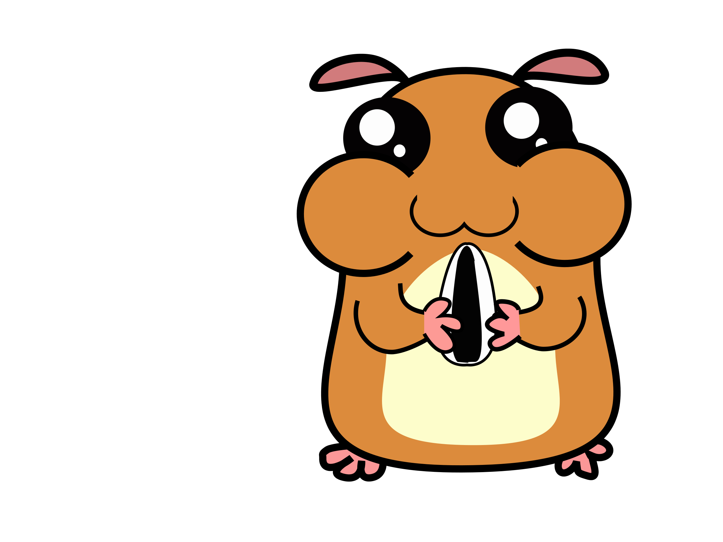Panda free images clip. Hamster clipart gerbil