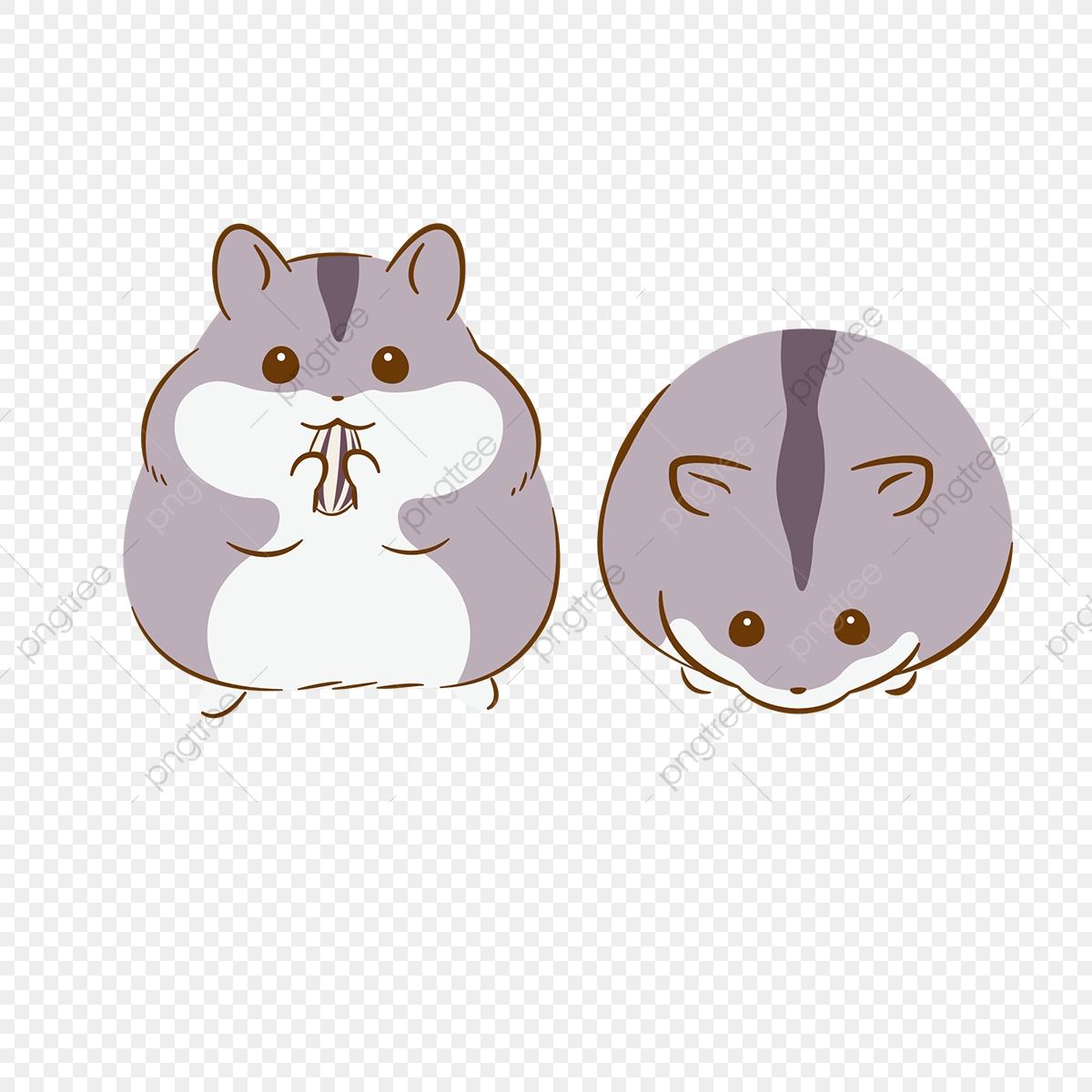 Gray hand painted material. Hamster clipart grey