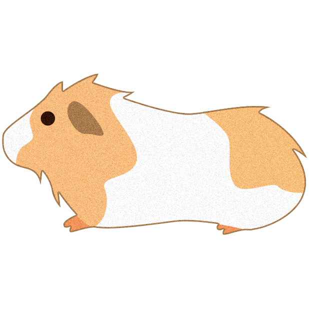 Hamster clipart guinea pig. Stickers by pulp free
