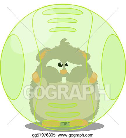 Stock illustration in drawing. Hamster clipart hamster ball