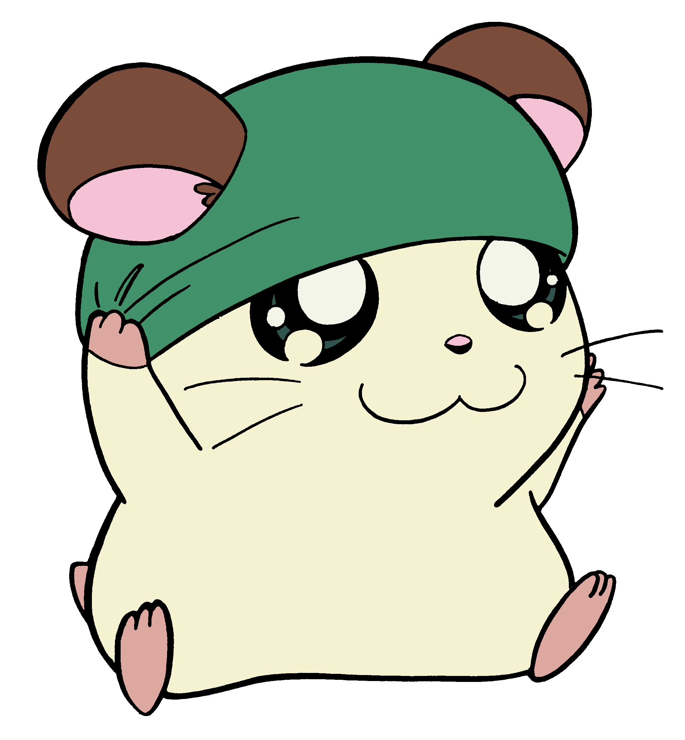 Cappy the hamtaro wiki. Hamster clipart hamster head