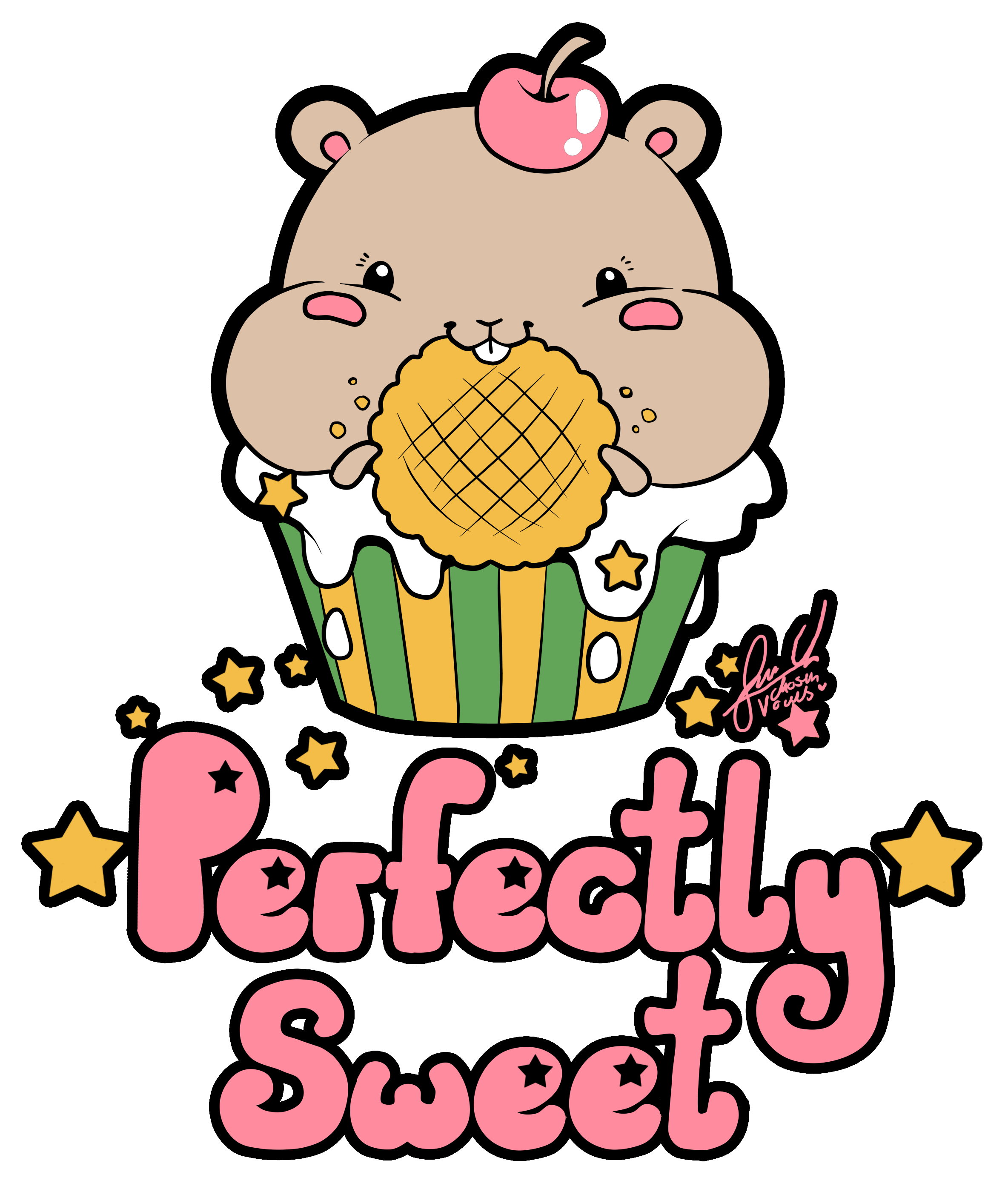Hamster clipart kawaii. Perfectly sweet chosenvowels muffin