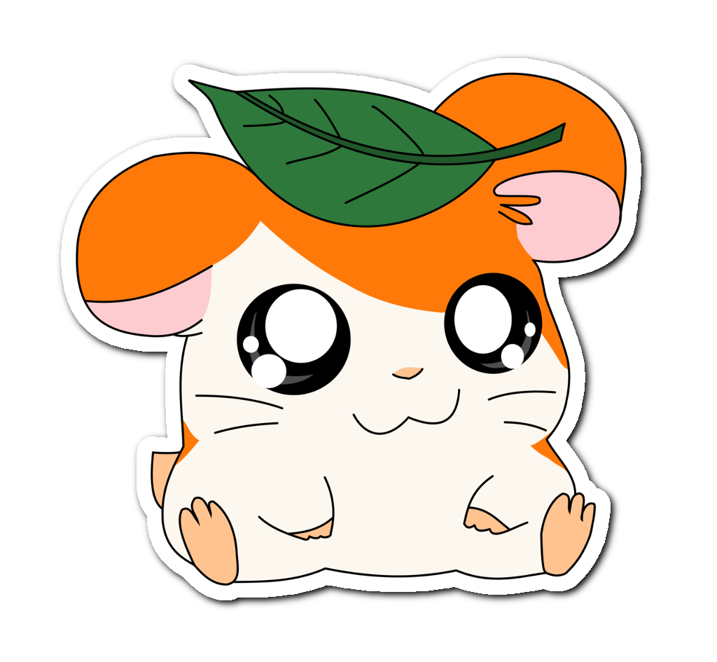 Hamster clipart kawaii. Hamtaro cute anime orange