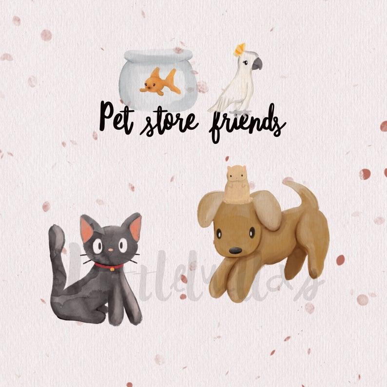 Little pet shop dog. Hamster clipart kid