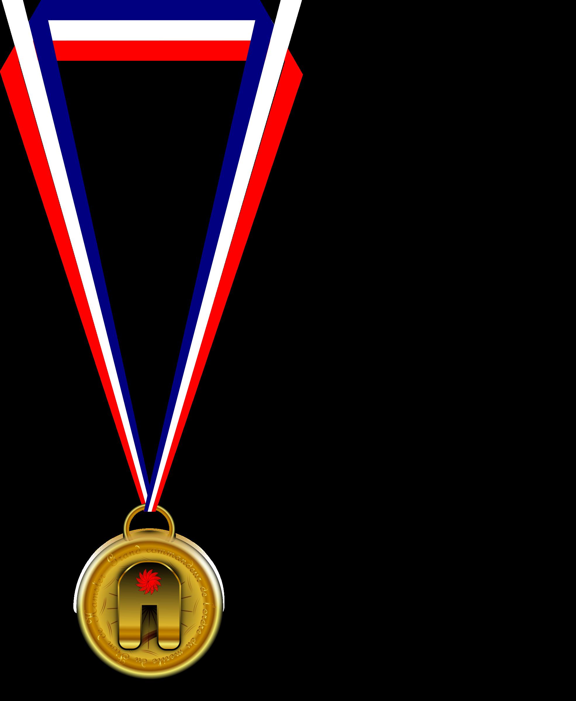 Medaille du big image. Hamster clipart line