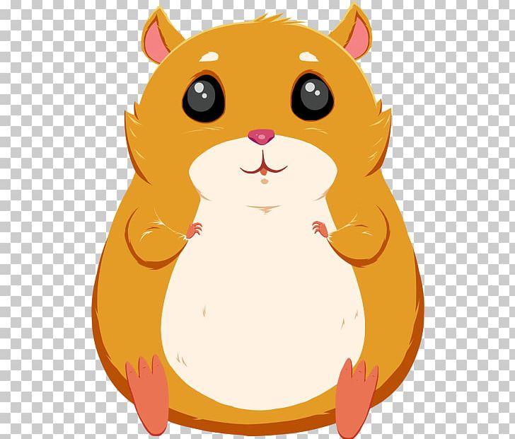 Cat whiskers animated film. Hamster clipart orange
