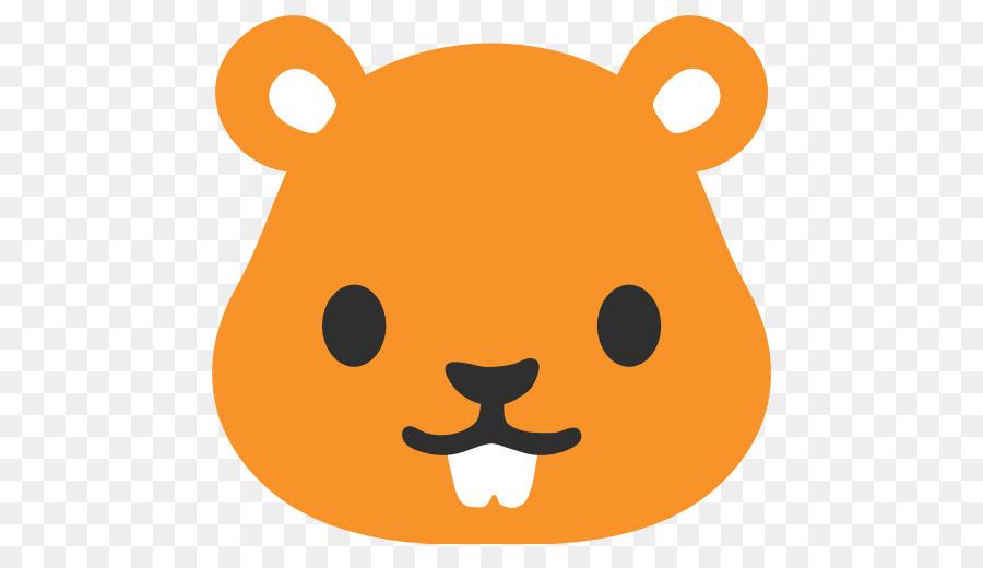Bear emoji nose transparent. Hamster clipart orange