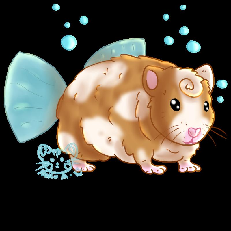 Hamster clipart orange. Fish or by nekoaisling