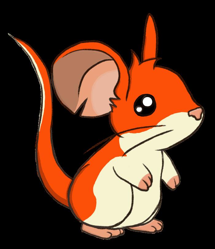 Transformice skin by jotamota. Hamster clipart orange