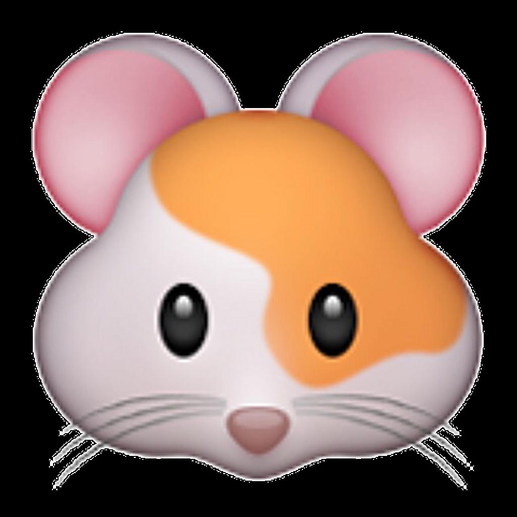 Emoji emojistickers emojihamster white. Hamster clipart orange