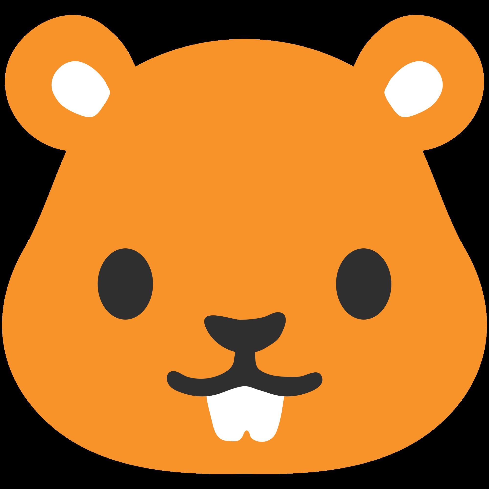 Hamster clipart orange. File emoji u f