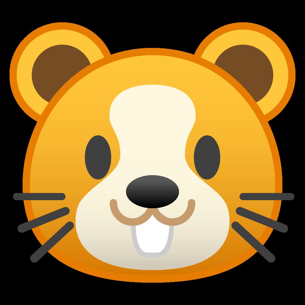Hamster clipart orange. Face icon noto emoji