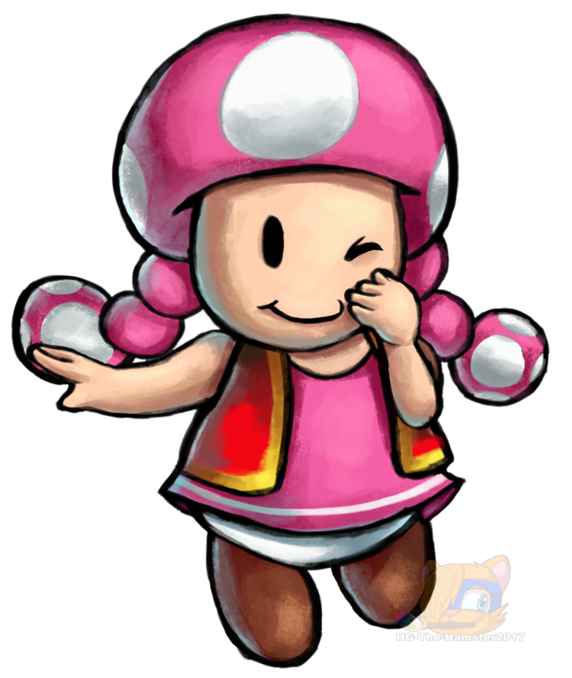 Hamster clipart painting. Toadette mario and luigi