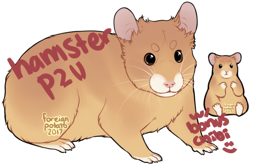 Hamster clipart painting. P u base by