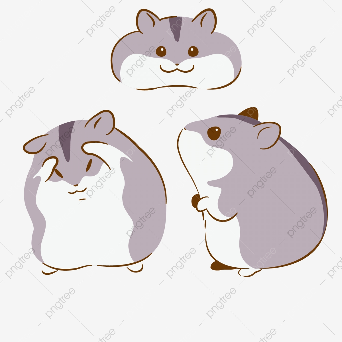 Hamster clipart simple. Cute little lovely