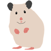 Offwhite by panda free. Hamster clipart syrian hamster