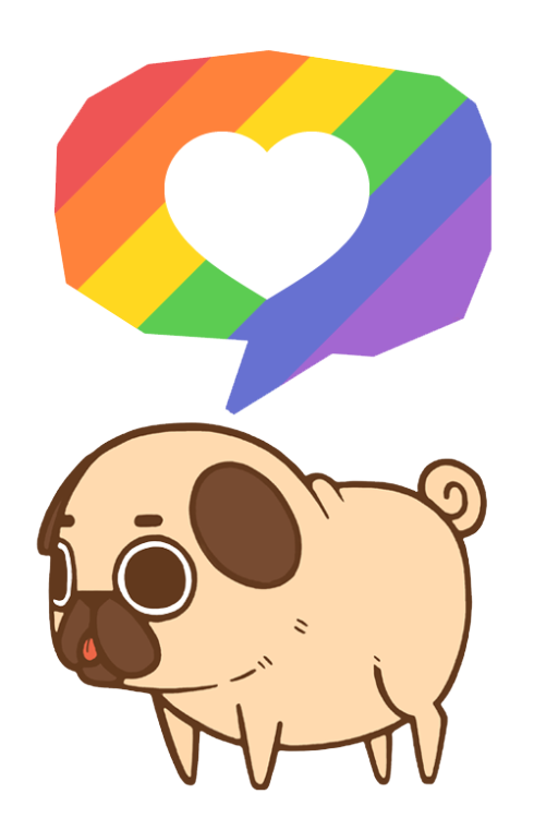 Puglie supports equality love. Hamster clipart three