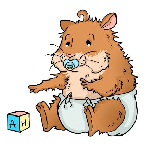 Baby hamsters before and. Hamster clipart three