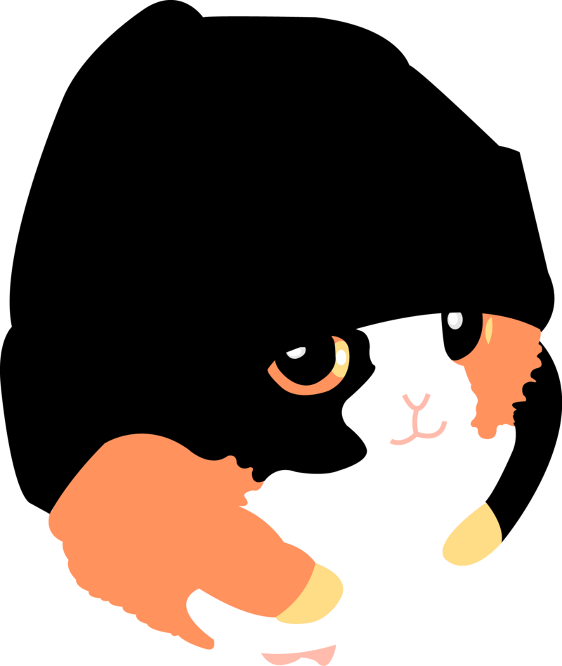 Fat hamsters official mascot. Hamster clipart vector