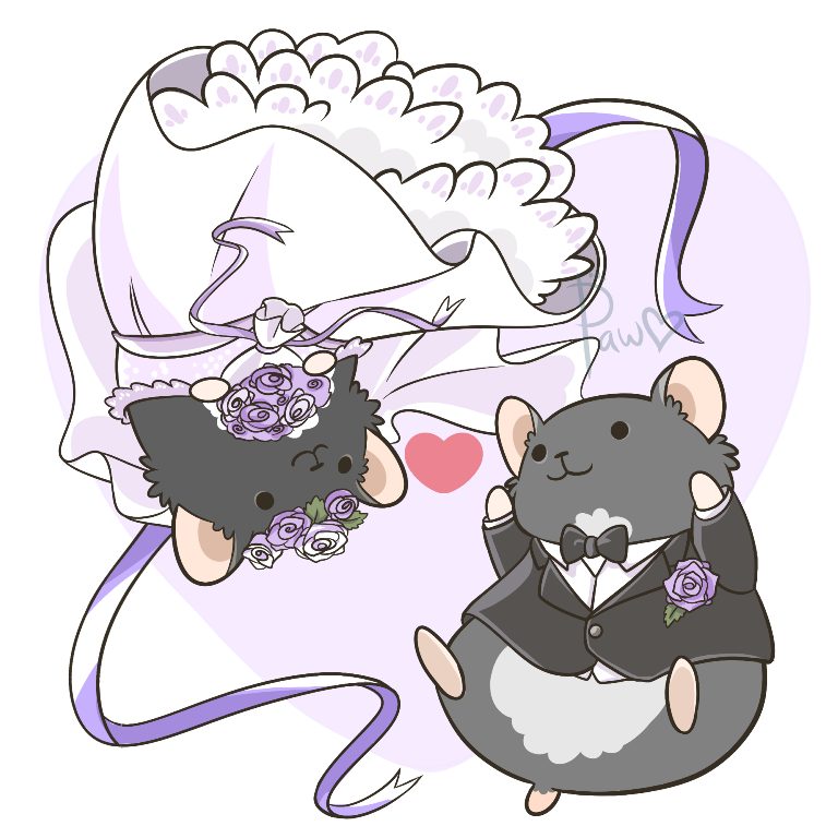 Hamster clipart wheel clipart. Wedding by pawlove arts