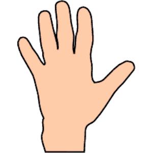 Hand clipart. Neutral