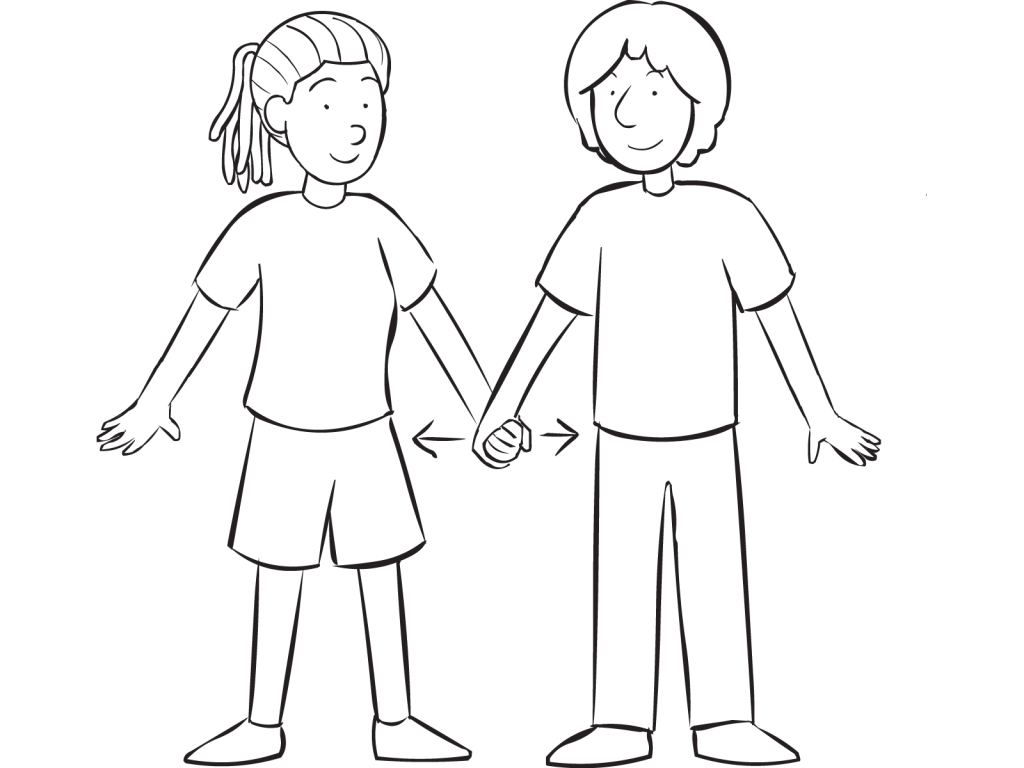 Two people holding hands. Hand clipart hip