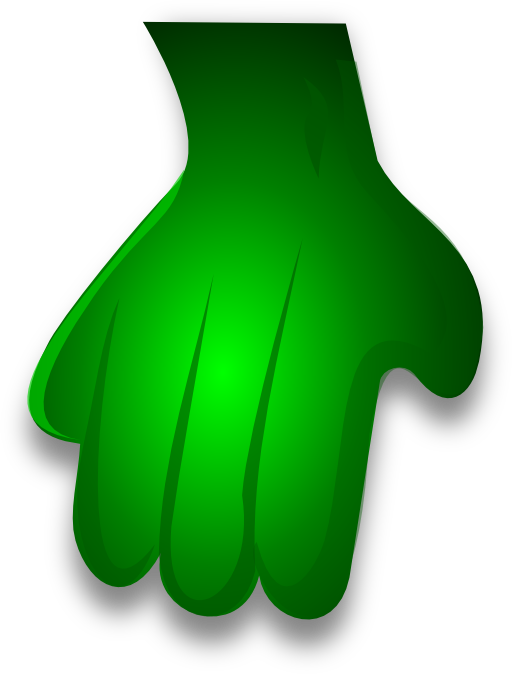 Hand clipart monster. Green i royalty free