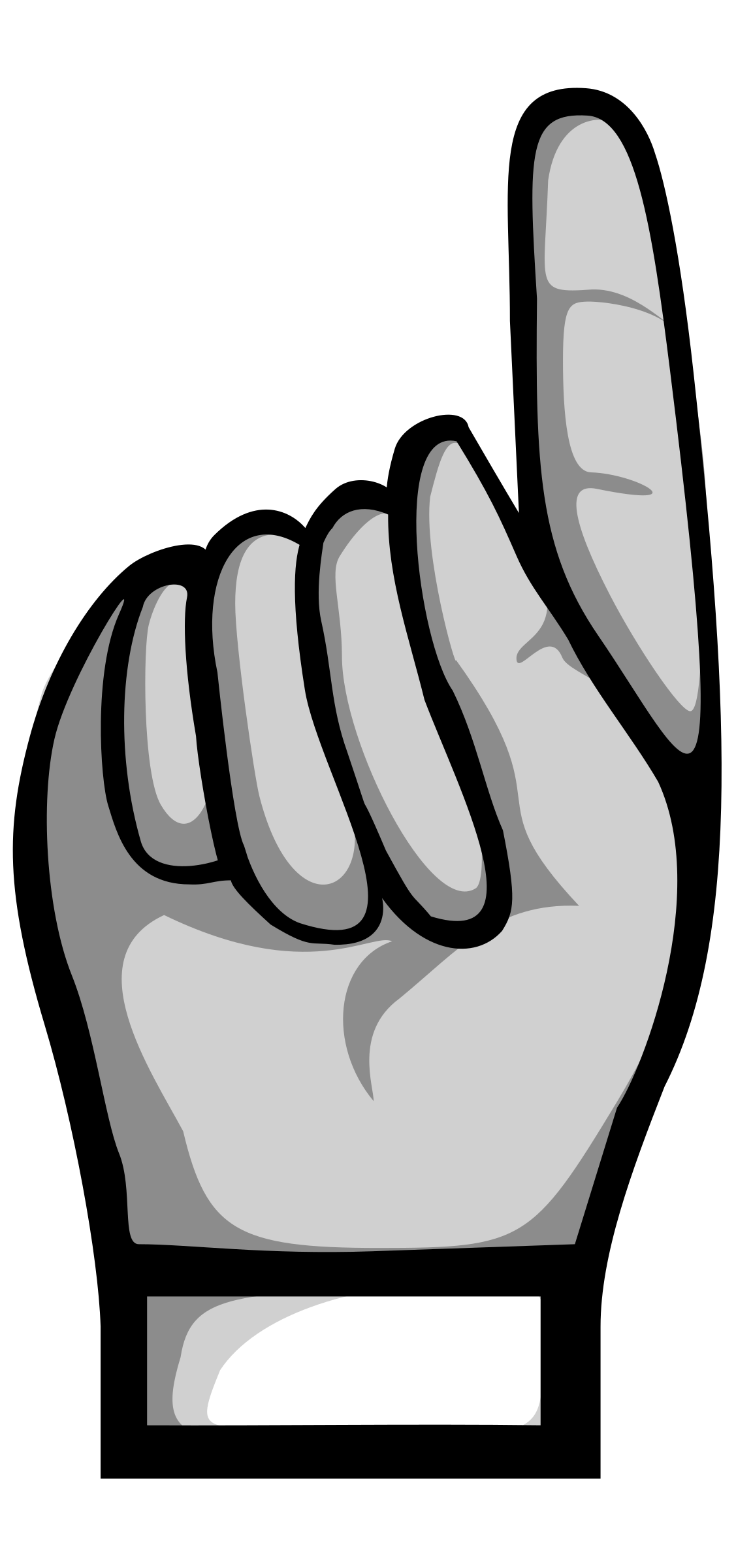 Up clipart pointing. Hands black and white